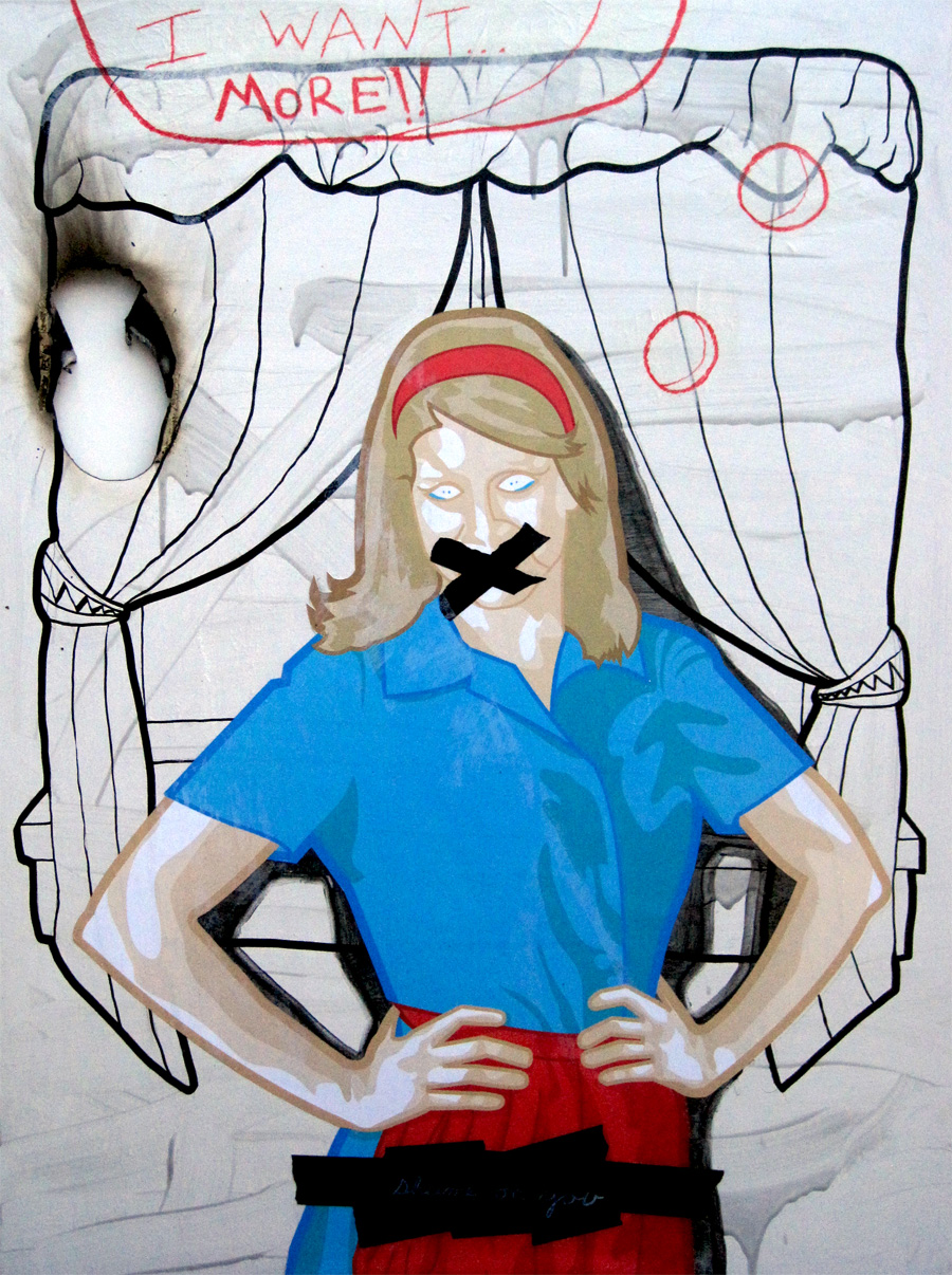 Shame on you  36 x 48 Mixed Media on canvas $5000