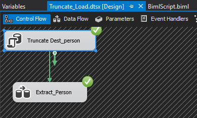 Final Biml File: Soon we will be discussing Automation using Biml, but even here you can see how reusable Biml can be. If we need to create another Truncate and Load SSIS package in the future, all we would need to do is change the Sources and Destinations(Connections/Tables).