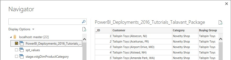 11. Click LOAD 12.I then went ahead and created some simple PowerBI Dashboards off the View source. Everytime this report is refreshed or executed that in turn executes the SSIS Package
