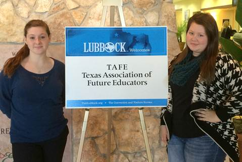 North Lamar's Whitney Loftin and Andrea Minerd were among the 1,500 students across the state of Texas to attend the TAFE Teach Tomorrow Summit in Lubbock.