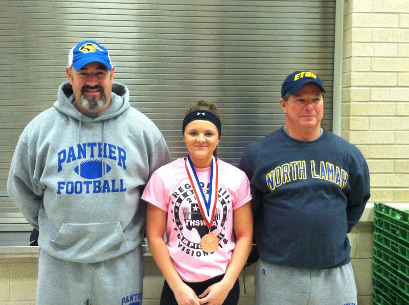 Kayedon Oliver shown with Coach  Pasternak (right) and Coach Elliot (left)