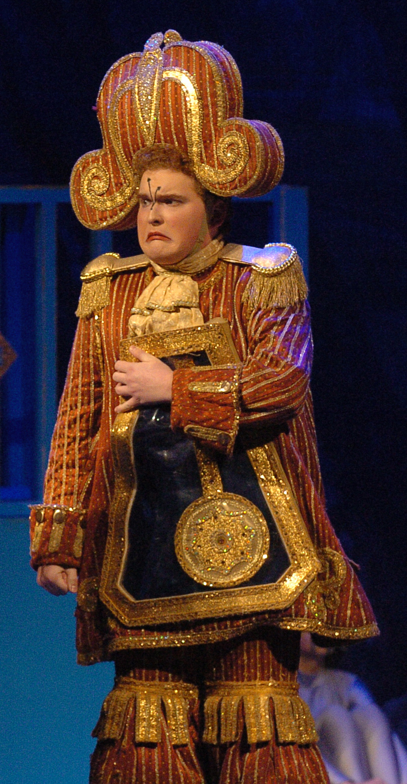 North Lamar's Jared Chenevey as Cogsworth in   Beauty and the Beast  .