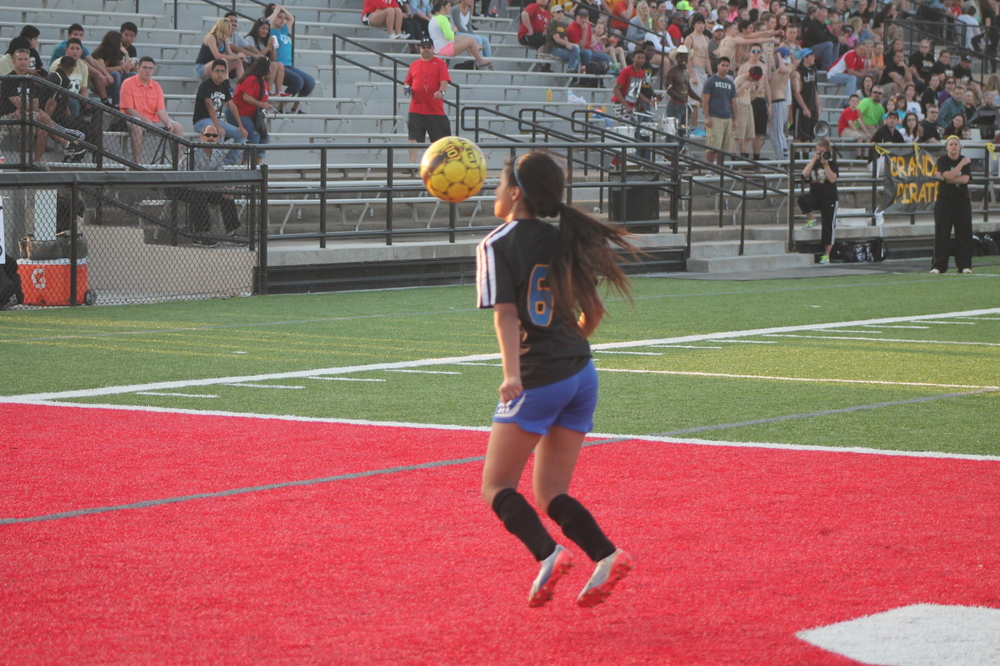 (Photo by Jared Routon) Daisy Rangel stares down the ball.