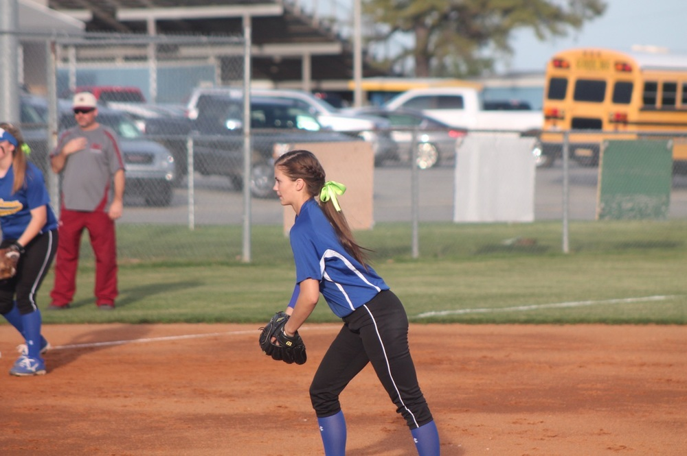Reagan Richardson getting set to pitch the ball Friday night. Richardson finished with 10 strikeouts on the night.