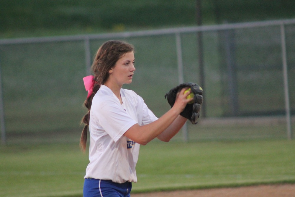 Reagan Richardson pitches a no-hitter against Pittsburg Monday night.