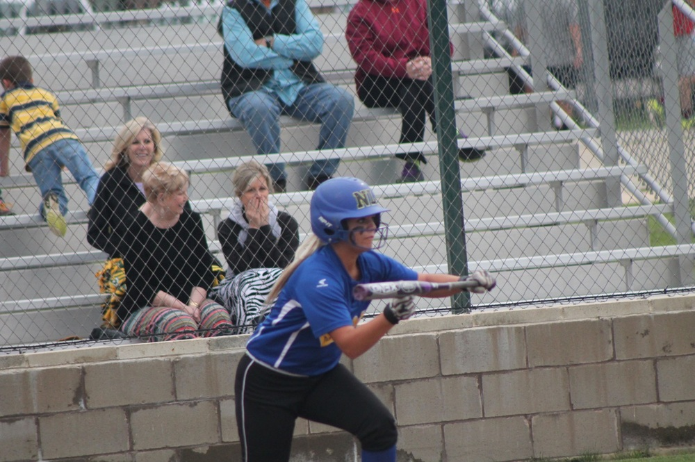Jordan Jones laying down a sacrifice bunt against Pleasant Grove.