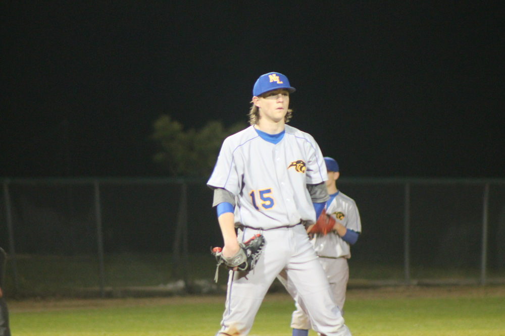 North Lamar pitcher Kevin Dickey getting set to pitch against Paris High last week.