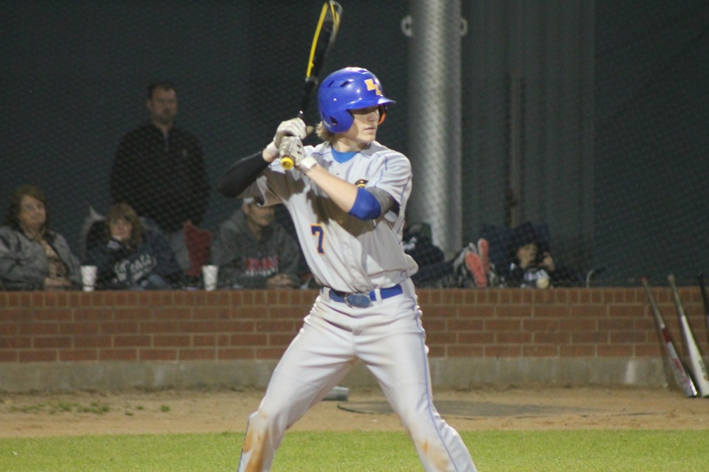 Chad Box stands in at the plate against Paris High earlier this season.
