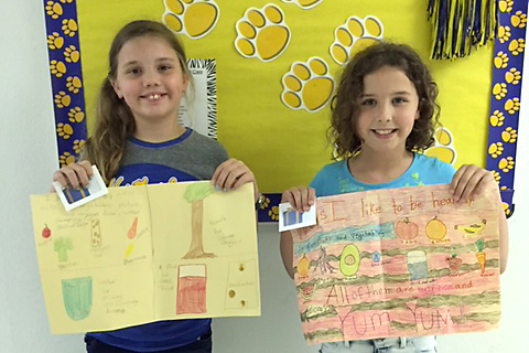 SHAC poster winners from Everett Elementary are Logan Dority, 3 rd place, and Raynie Lewis, 1 st  place.
