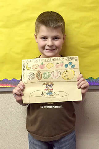 Second place SHAC poster winner from Parker Elementary is Bryson Bates.