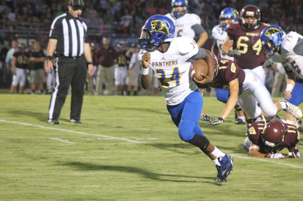(Photo by Adam Routon) Javon Franklin with one of his four touchdown runs against Whitesboro