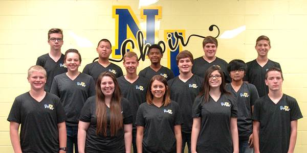 North Lamar High School students named to the All-Region Choir and who will go on to compete in the TMEA All-State Choir process beginning front row left are Parker Freeman, Sarah Serrano, Brooke Crawford, Taylor White and Seth Carter.  In the second row are Korbin Hamner, Brock Garrison, Eric Shelton and Ken Tran, and in back are Nate Johnston, Ben Dong, Josh Kok, Jacob Weissenmayer and Kyle Stanley.