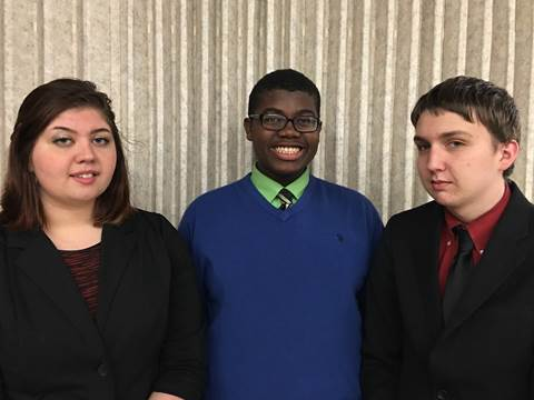 Ranking among the top ten in UIL State Student Congress are North Lamar juniors Kay Edwards, Jordan Walters and Steele Musgrove.