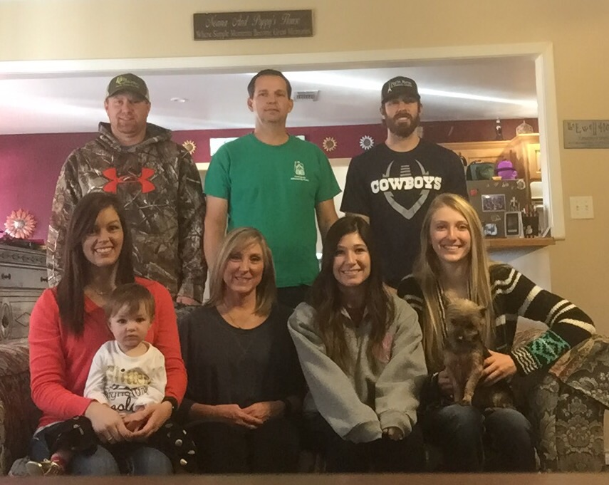 Coach Duanna Ewell's Family: Cortney, Hadley, Duanna, Shelbi, Karlie, Kris, Leslie, Kory