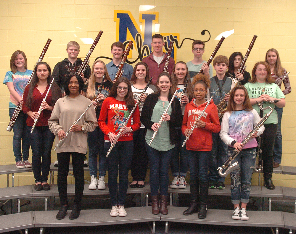 Woodwind Solo Qualifiers     Front row: Taleia Anderson, Cydney Holbrook, Jennifer Wirges, Tatiana Asberry, Kallaigh Nicholson    Middle row: Jayden Franklin, Marli Dority, Heather Armstrong, Allison Bright, Reece Johnson, Emily    Johnson    Back row: Kaitlyn Dority, Parker Freeman, Will Rast,  Grant Erickson, Nate Johnston, Laura Carl, Kyra Conlin
