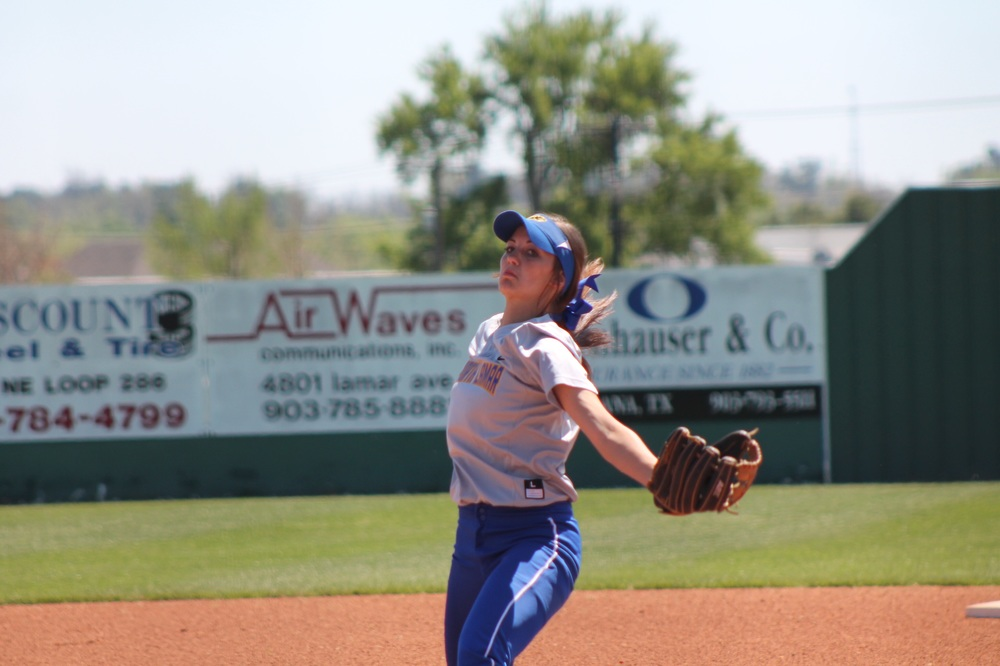 Reagan Richardson pitching against Pleasant Grove Saturday