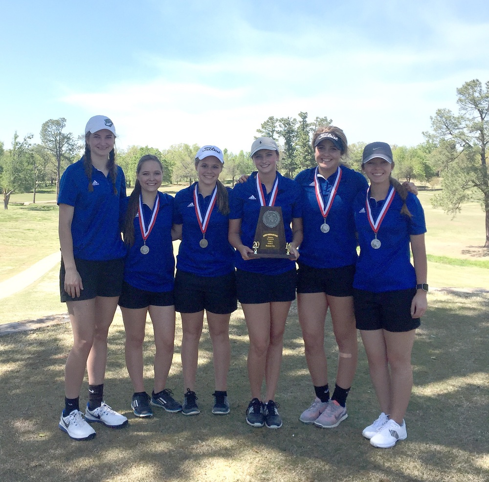 Members of the North Lamar Girls Golf team from left are Taylor Drennen, Kristen Hodges, Morgan Ross, Bailey Sanders, Jaycie McEwin and Madelyn Clark.  Coach is Chris Clark