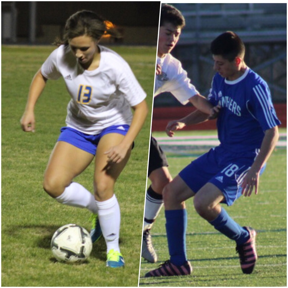 All district juniors Olivia Reader & Korbin Peralta