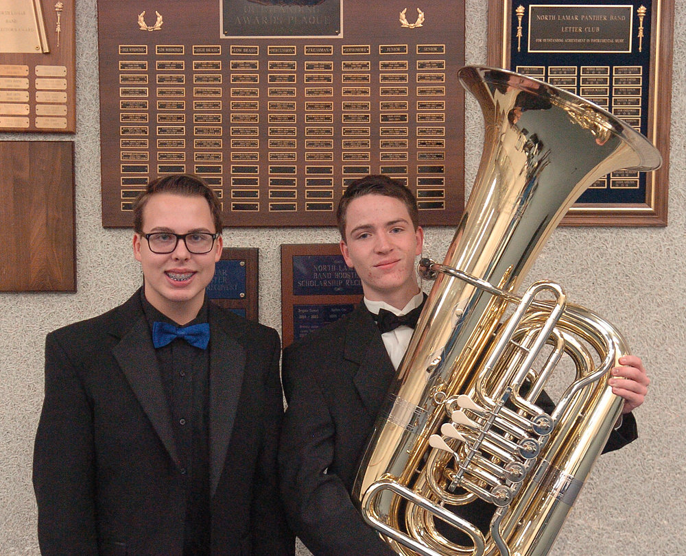 North Lamar High School freshman Sean Gist has been named to the Texas All-State Choir while junior Seth Carterwas named to the Texas All-State Band.  Both will represent North Lamar and Paris, Texas, at the Texas Music Educators Association Convention in San Antonio on February 11.