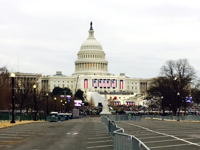 A picture of the United States Capitol was taken by Everett Elementary teacher Taylor Bland, who is attending the presidential inauguration.  Bland has been sharing her experiences of the activities leading up to the presidential inauguration through FaceTime with the students at Everett.