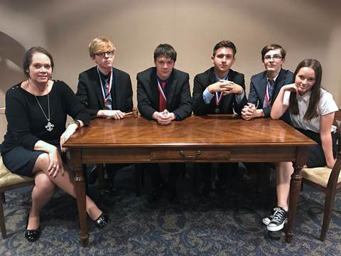 UIL Student Congress Region Champion is the North Lamar High School team of Coach Kristi Hodgkiss, Mason Remaley (senior), Colin Hodgkiss (senior), Garrett Holzwarth (junior), Zach Huffman (junior), and Katie Hodgkiss (sophomore).