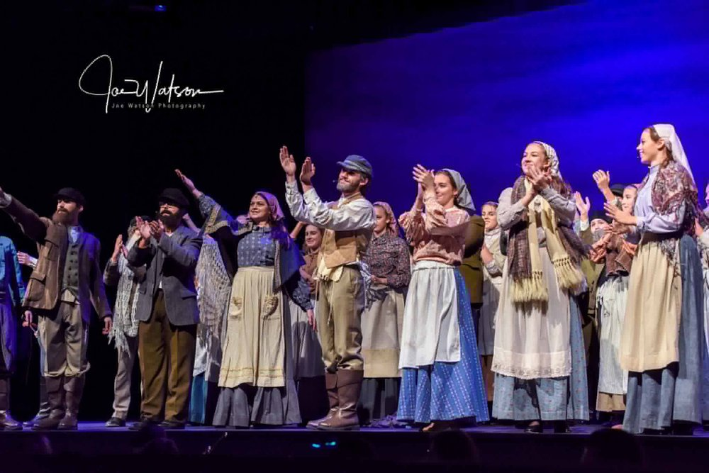 (Photo by Joe Watson)  Fiddler on the Roof cast