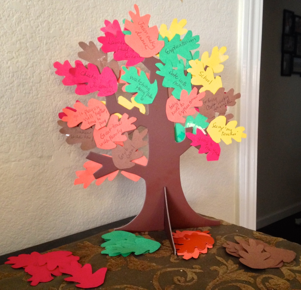 Our first Gratitude Tree.