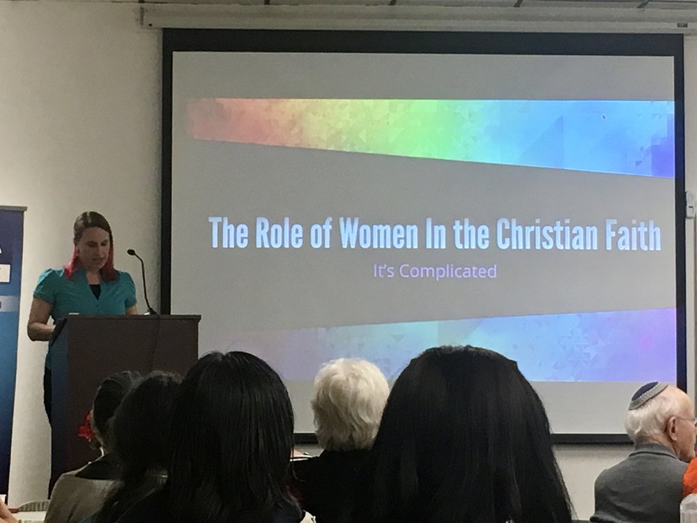 Leah at the International Women's Day Event hosted by the Pacifica Institute, March 9, 2017