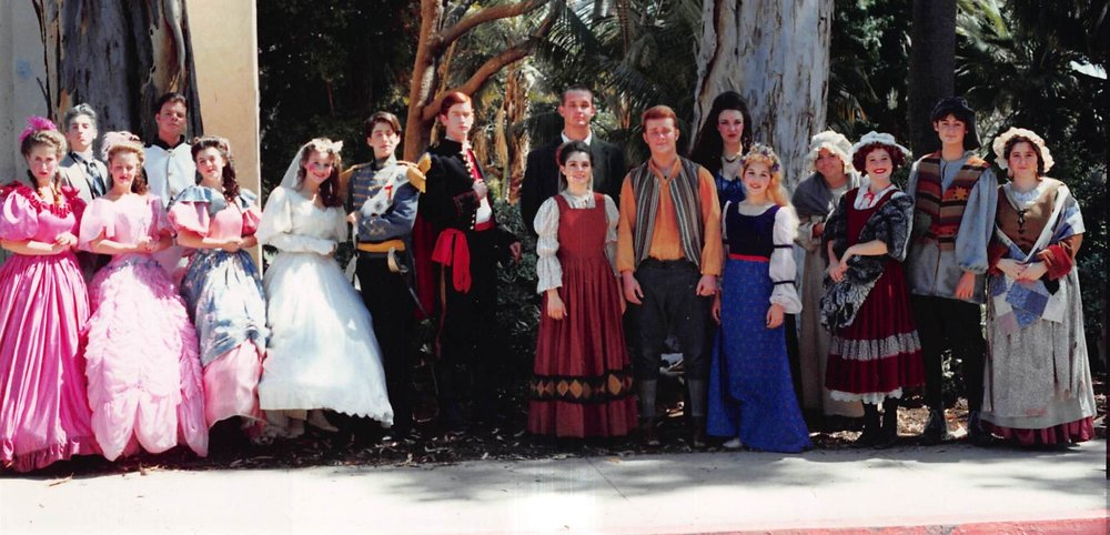 One of the images from Leah's youth that she shares at the beginning of the teaching. San Diego Junior Theatre, circa 1993.
