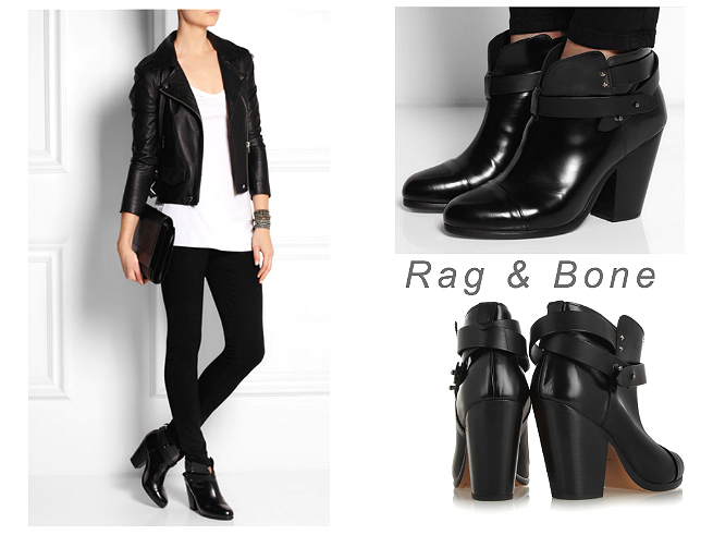 RAG & BONE Harrow leather biker boots $550