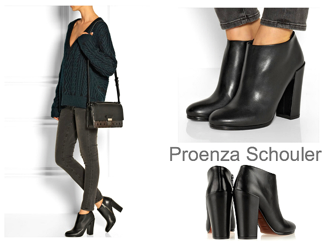 PROENZA SCHOULER leather ankle boots $895