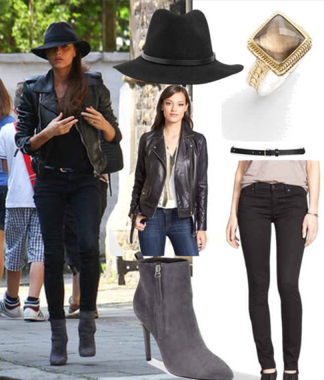 Fedora   //     Ring   //     Leather Jacket   //     Belt   //     Boots   //     Jeans