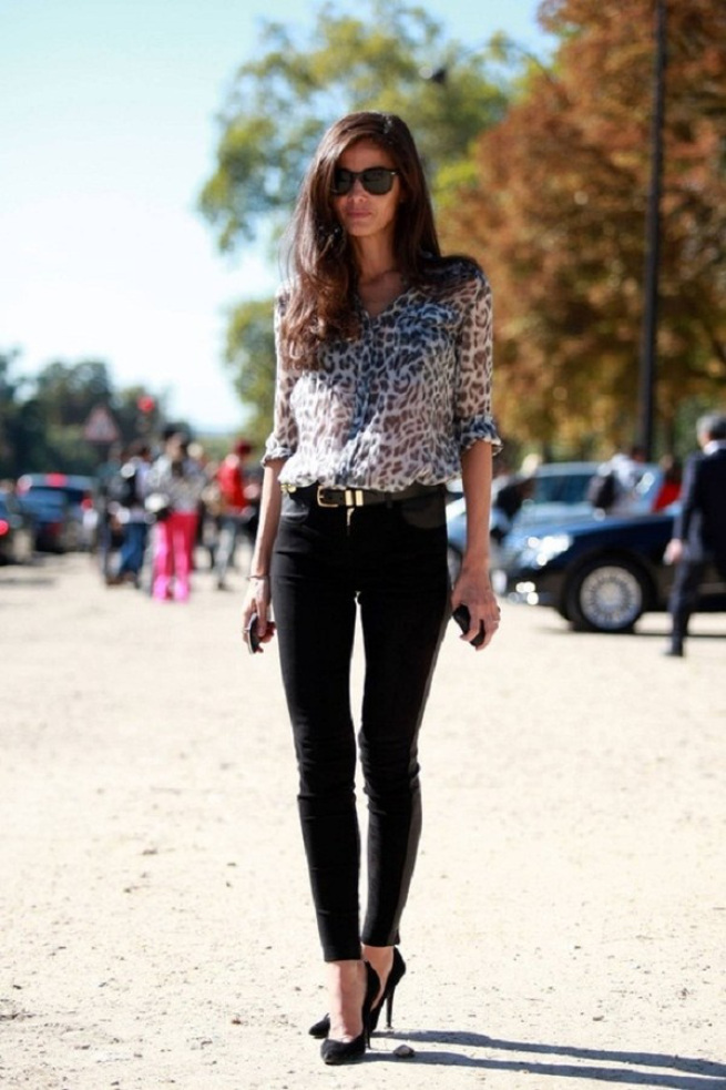 Barbara Martello leopard print workwear