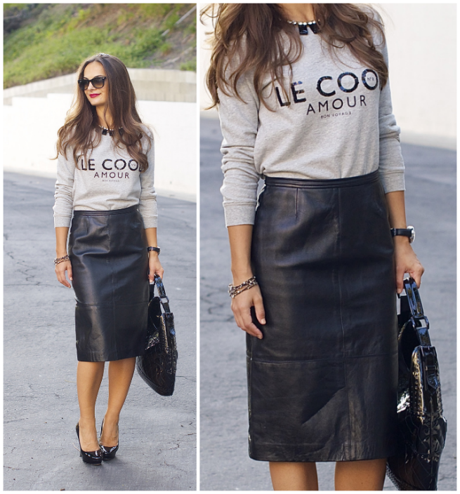 Leather Skirt You Can Wear to Work — Practically Fashion