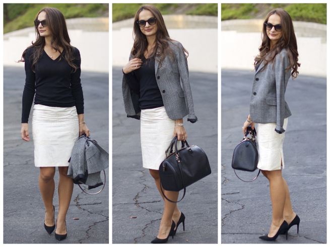 wear white to work styled by practicallyfashion