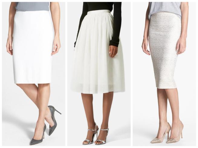 Classiques Skirt $168   //   Topshop Tulle $105   //   J&H Pencil $38
