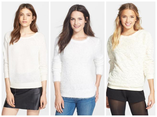 Vince Sweater $137.98//Halogen Sweater $68//LOAH Sweater $36