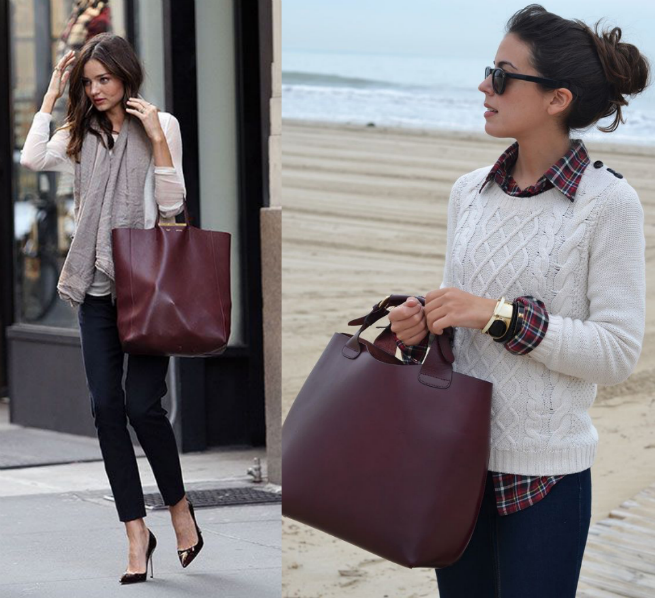 burgundy bags to wear
