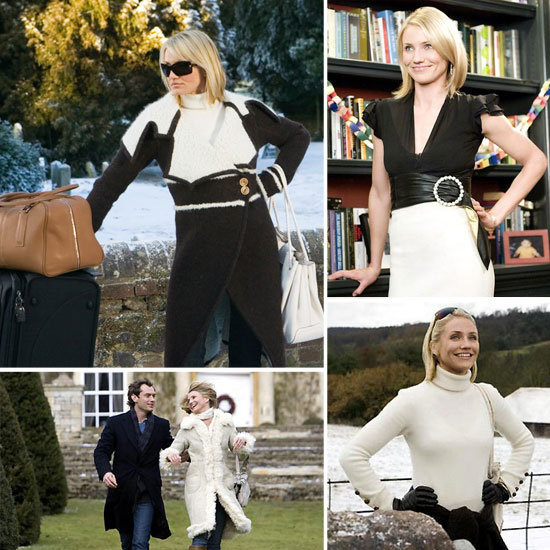 cameron diaz in the holiday outfits