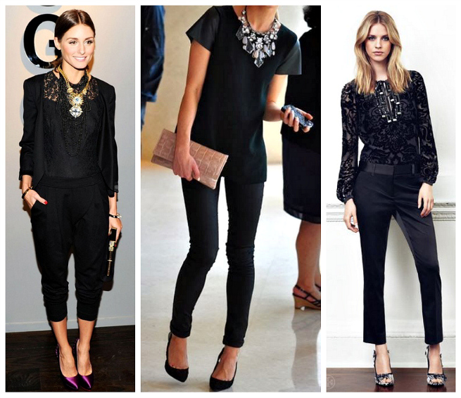 All Black Holiday Outfit Ideas