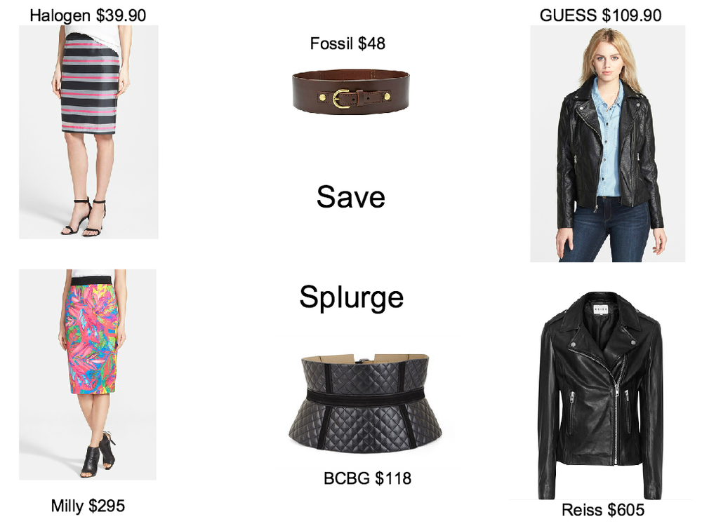 Halogen Skirt // Milly Skirt                                                                     Fossil Belt // BCBG Belt                                            GUESS Jacket // Reiss Jacket