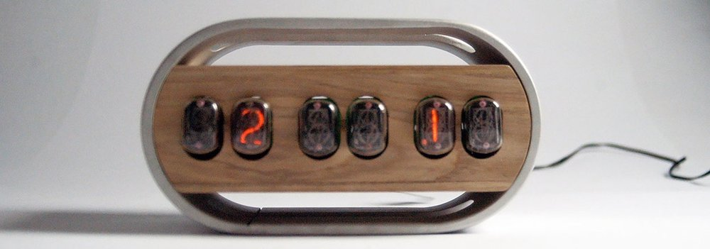 YANKO DESIGN/A Nixie With New Life - One of the first digital display clocks, 1950s Nixies are now prized for their modern aesthetic. Lizzie Wright's take on the vintage find merges modern finishes with the classic nixie tube clock circuit...