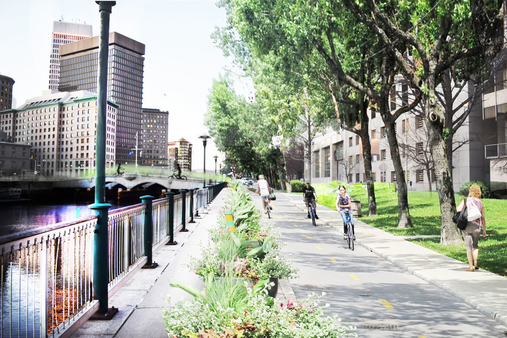 South Water Street as a community greenway.