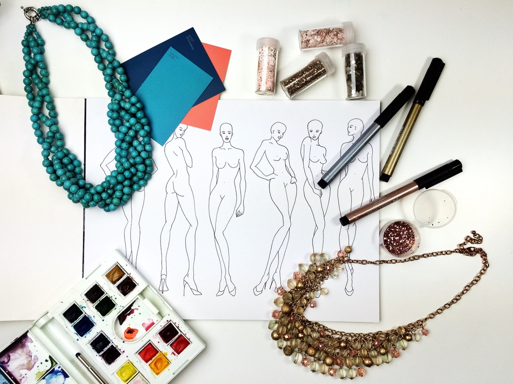 How to Make Your Own Fashion Illustration Croquis by Jessica Mack of BrownPaperBunny