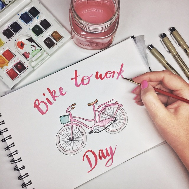 Watercolor-Bike