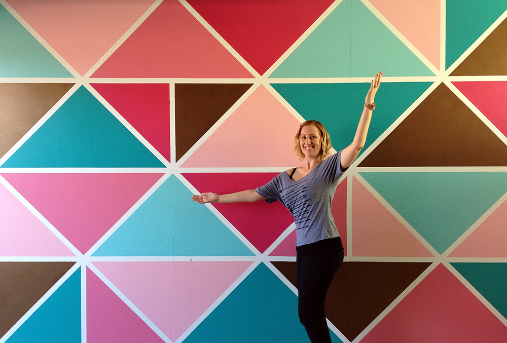 How To Paint A Geometric Mural by Jessica Mack of BrownPaperBunny