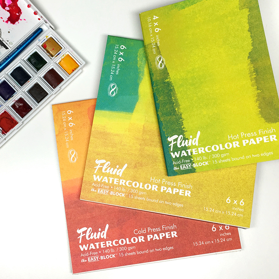Fluid Watercolor Blocks (Hot Pressed)