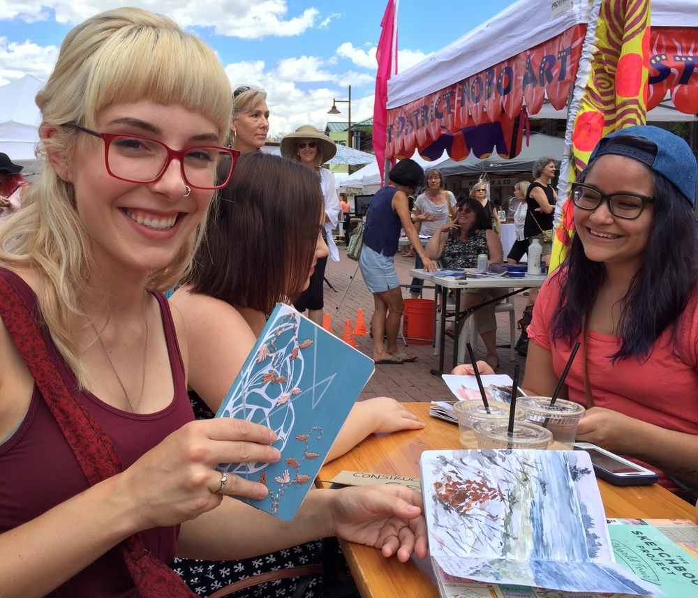 This is  Allison Wheeler , a Boulder artist who's sketchbook I got to check out from the mobile library