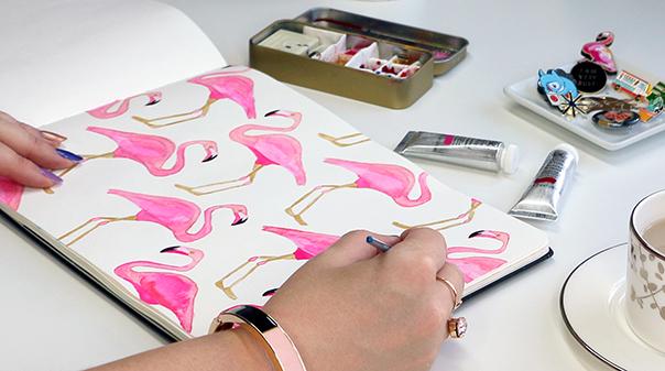 BrownPaperBunny-pink-flamingos