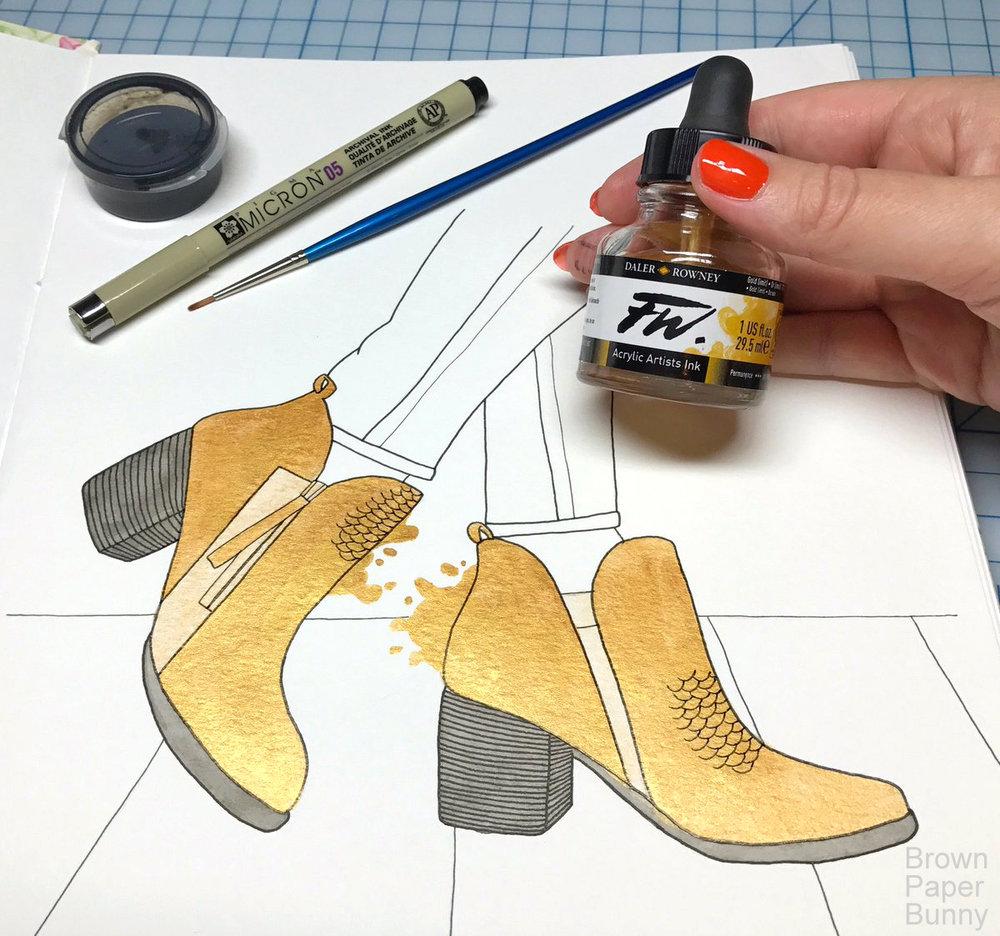Inktober-Ankel-Boots-BrownPaperBunny